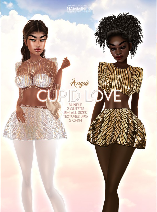 Cupid Love Angels 2 Outfits BM all sizes Textures JPG 2 CHKN Limited to 3 clients only