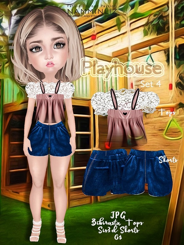 Playhouse Full Set 4 ( JPG Textures Top Bibirasta Shorts Sis3d )