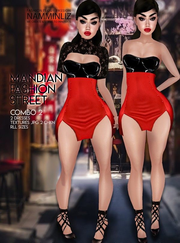 Mandian Fashion Street combo2 Two Dresses Textures JPG 2 CHKN