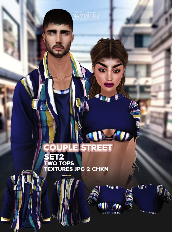 Couple Street SET2 Textures JPG 2 TOPS 2 CHKN