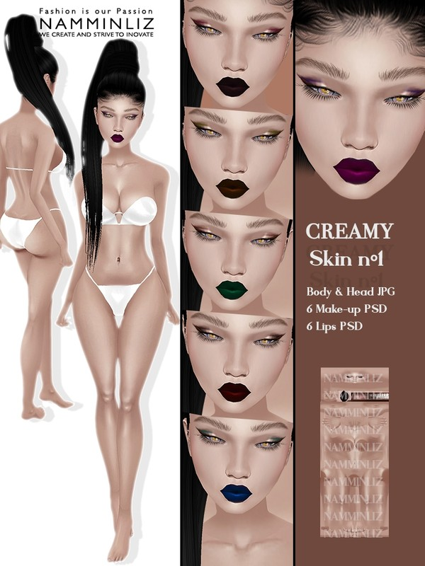 Creamy Skin N1 Body & Head JPG 6 Lips 6 Make-up