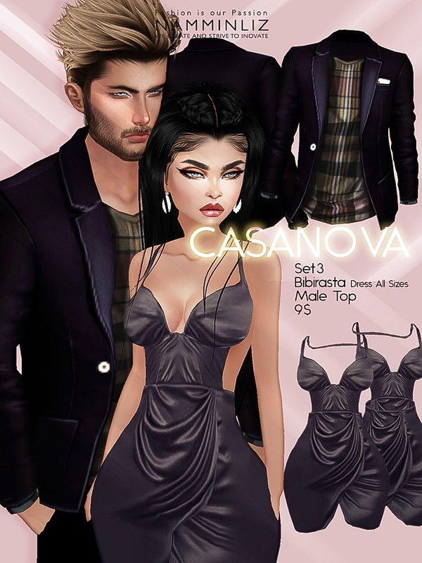 CASANOVA set3 ( Bibirasta Dress + Male Top ) JPGTexture imvu