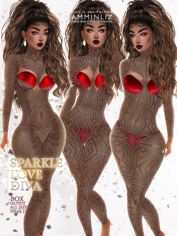 Sparkle Love Diva Box 3 Outfits JPG Textures all sizes sis3d