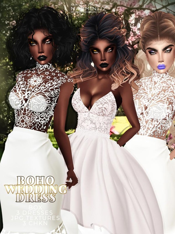 Boho wedding Box 3 Dresses JPG Textures 3 CHKN