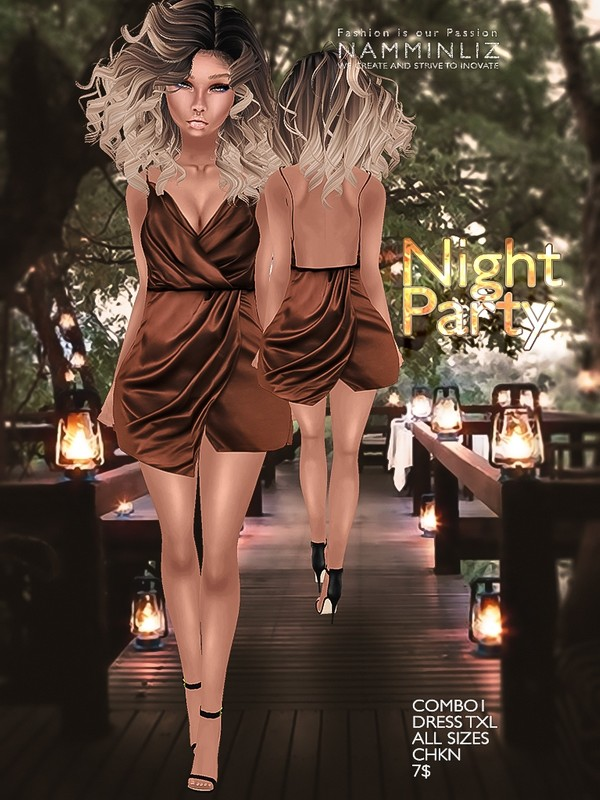 Night party combo 1 Dress Texture JPG TXL CHKN