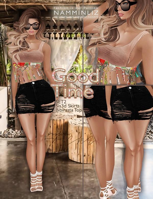 Good time SET2 •Sis3d skirt •Bibirasta top imvu texture PNG