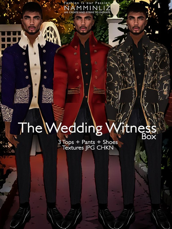 The Wedding Witness 3 Tops+Pants+Shoes Textures JPG CHKN