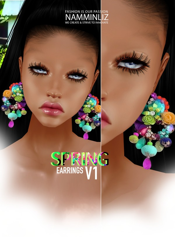 Spring Earrings V1 Textures PNG, CHKN ^  -  ^