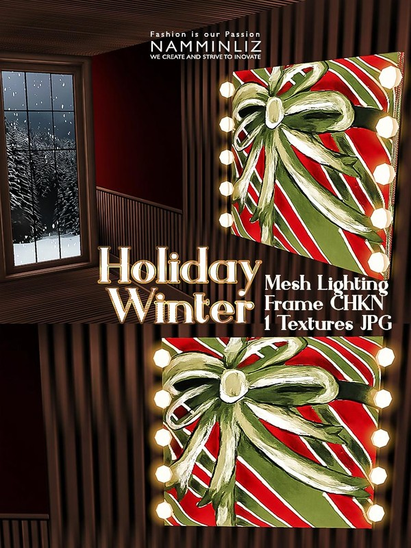 Holiday Winter Lighting Frame 1 Texture JPG Mesh CHKN