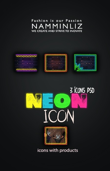 NEON V1 3 icons PSD collection