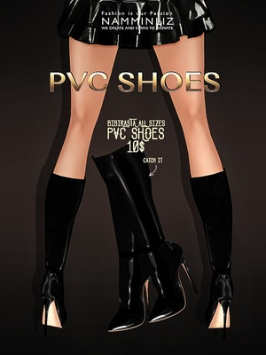 Black Cream PVC Shoesimvu bibirasta all sizes - JPG texture