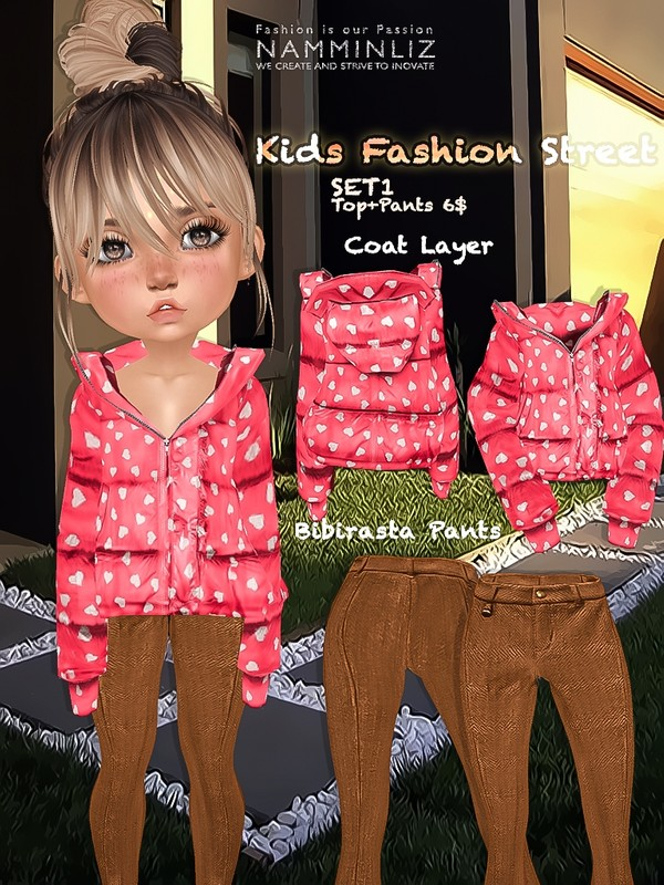 Kids fashion street SET1 ( Top + Pants textures JPG bibirasta all sizes)