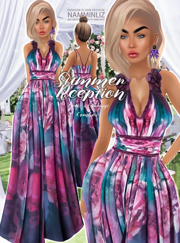 Summer Reception combo 2 Dress & Earrings Textures JPG 2 CHKN