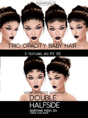 Double Half Side 3 Baby Hair Opacity Textures JPG 2018 P2