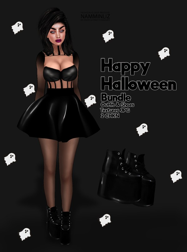 Happy Halloween Bundle Outfit & Shoes Textures JPG 2 CHKN for 1$ only