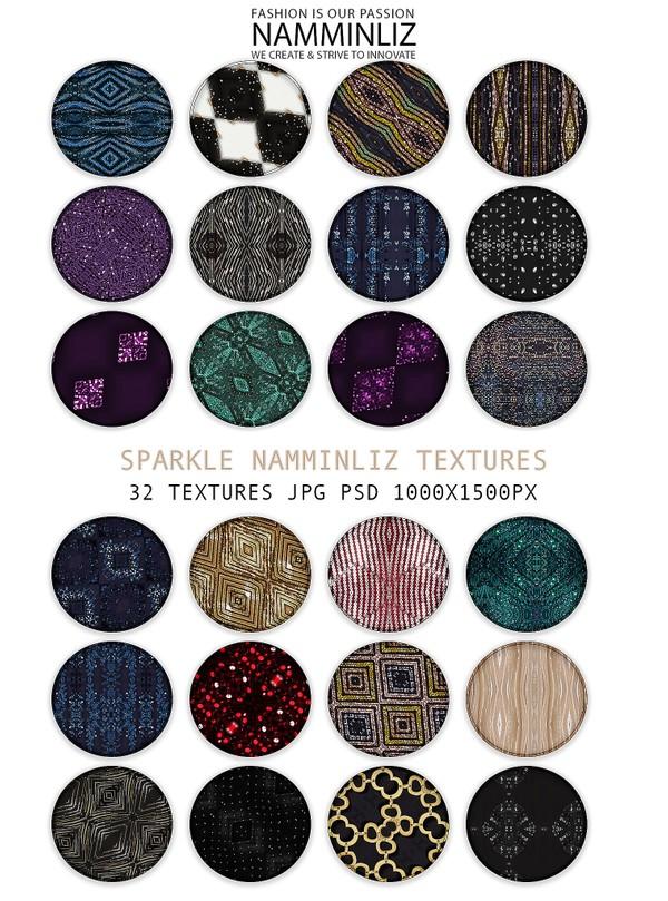 Sparkle 32 Textures V1 JPG PSD 1000x1500px