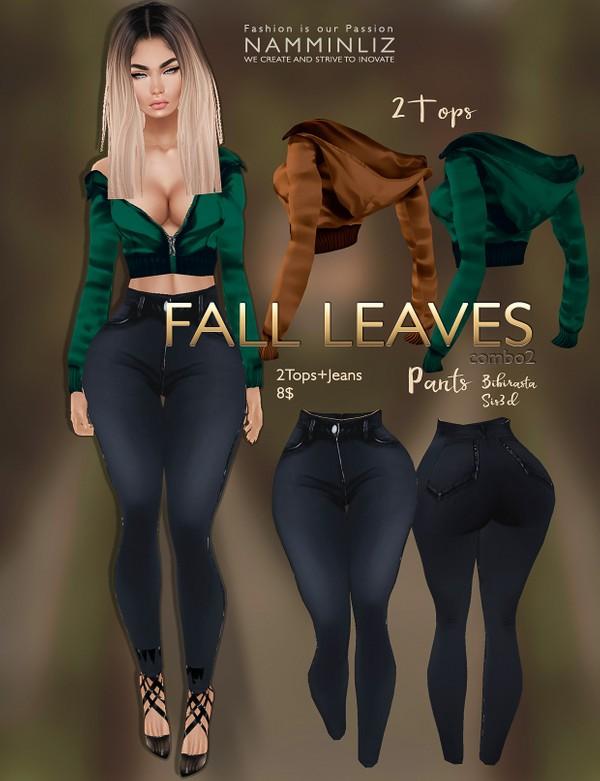 Fall Leaves combo 2 imvu texture JPG ( 2Tops, Jeans Bibirasta & Sis3d )