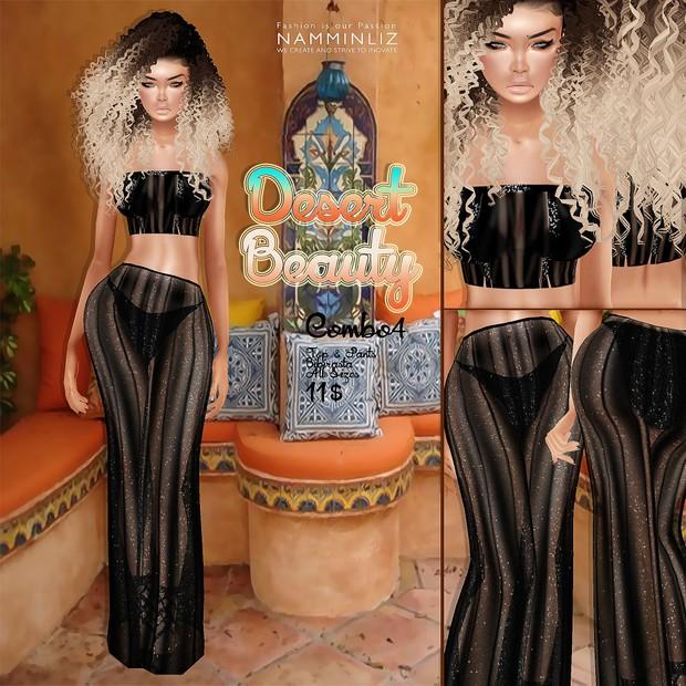 Desert Beauty combo4 •Bibirasta Shiny Top+Pants