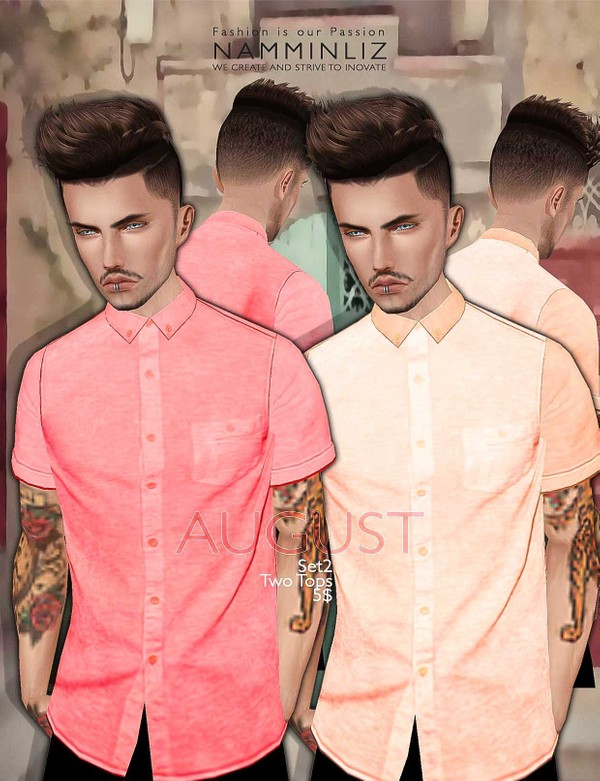 August Set 2  •Two Tops imvu Textures