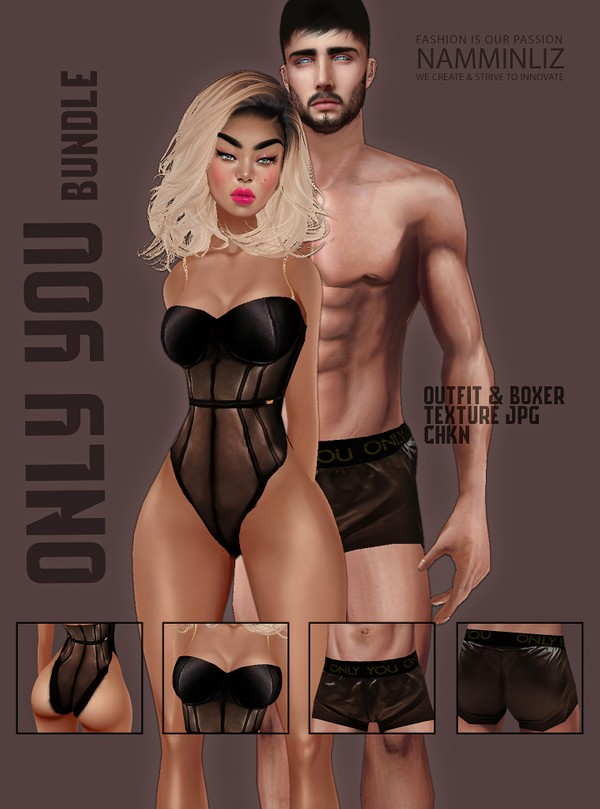 Only You Bundle Brown Textures JPG CHKN (Men & Female) Lingerie