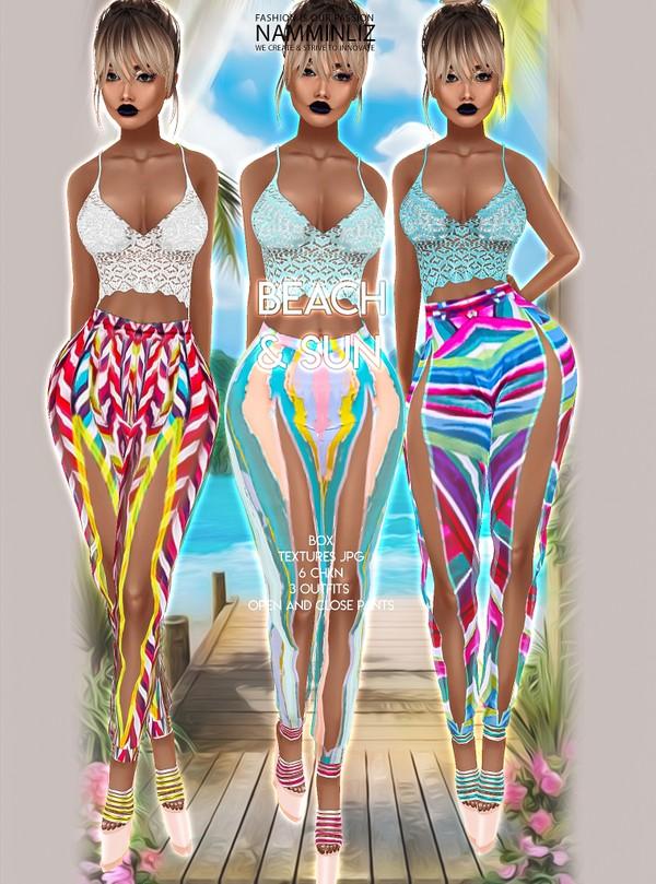 Beach & Sun Box 3 Outfits (Open & Close Pants) Textures JPG 6 CHKN