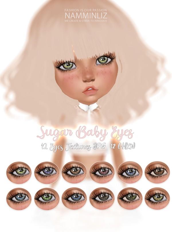 Sugar Baby Eyes 12 Textures JPG & 12 CHKN