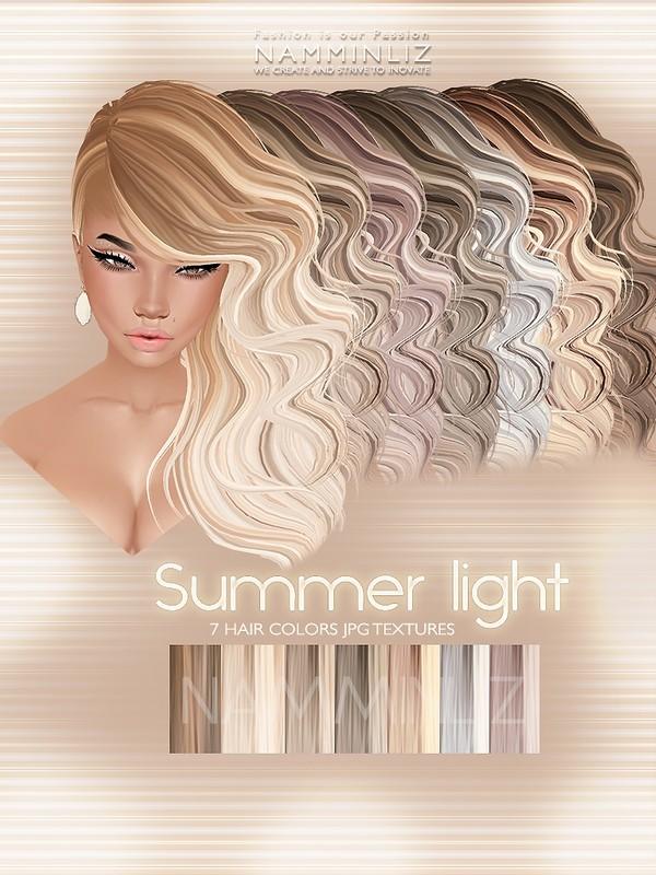Summer Light 7 Hair Textures JPG