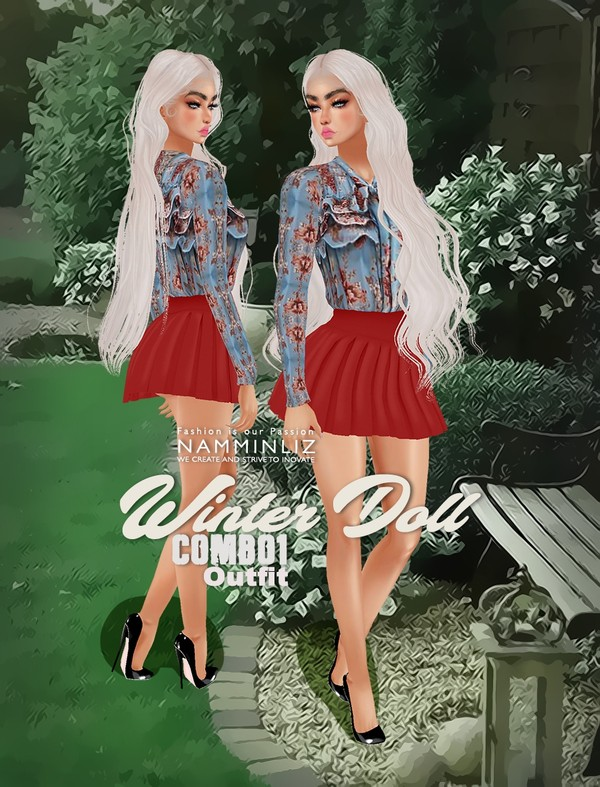 Winter Doll Combo1 Outfit Textures PNG CHKN