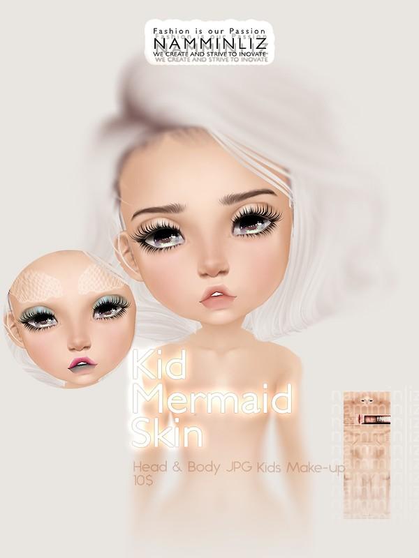 Kid Mermaid Skin & Make-up JPG (2* .CHKN file)