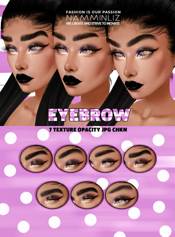 Eyebrows 7 Textures JPG 7 CHKN