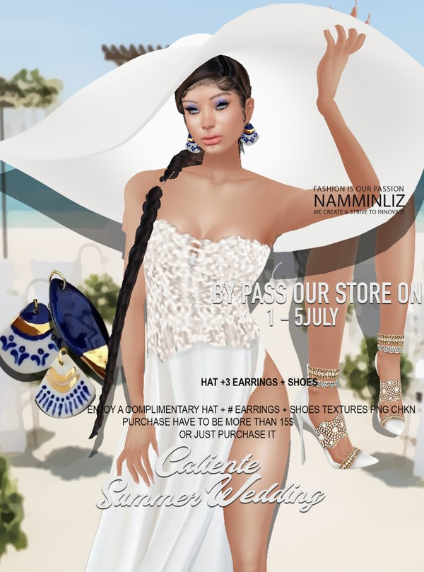 By Pass our stores on 1 - 5 July to get a complimentary Caliente Summer Wedding Hat + 3 Earrings + S