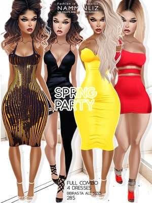 Spring Party Full combo Bibirasta dress all sizes textures JPG