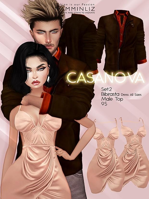 CASANOVA set2 ( Bibirasta Dress + Male Top ) JPGTexture imvu