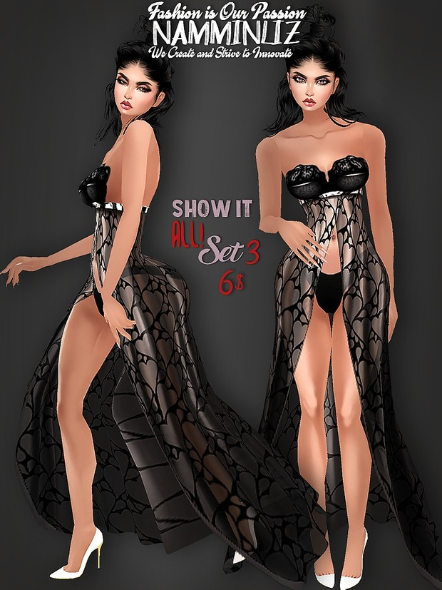 Full Show It All! SET 4 Bibirasta Dresses All sizes PNG