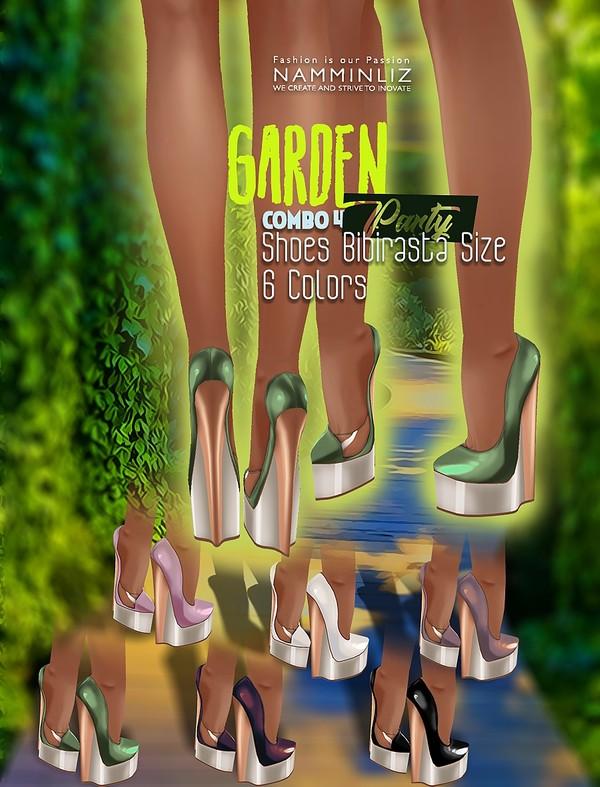 Garden Party Combo 4 Shoes Bibirasta Textures PNG CHKN