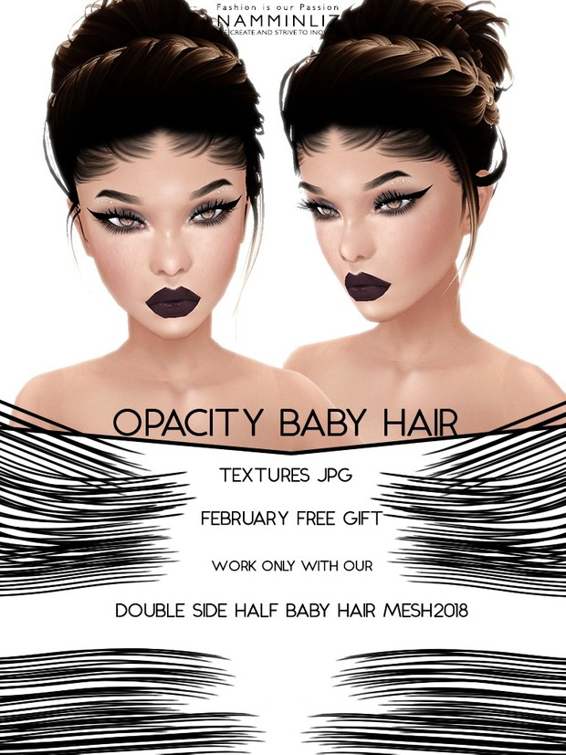 Double Half Side Baby hair Mesh 2018 ( XMF )