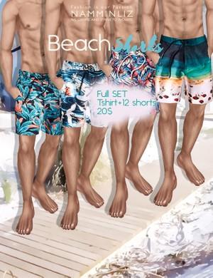 BEACH SHORTS FullSET imvu PNG