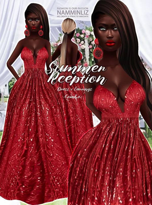 Summer Reception combo 1 Dress & Earrings Textures JPG 2 CHKN