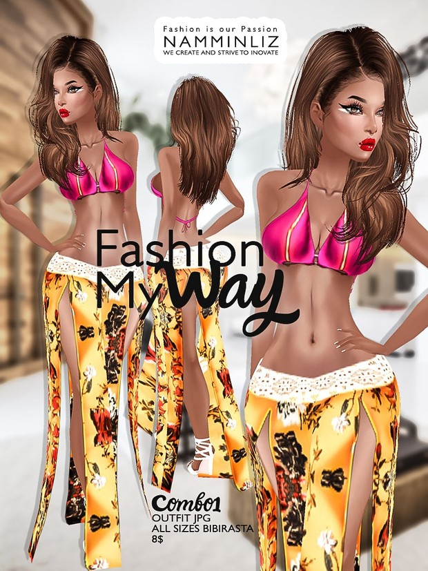 Fashion my way Full combo ( 4 Outfits Textures JPG All Sizes Bibirasta ) File sale NAMMINLIZ