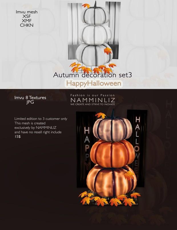 imvu 3D Mesh Autumn decor Set3 ( SXF, XMF, CHKN, JPG, Easy Guide) 0/3