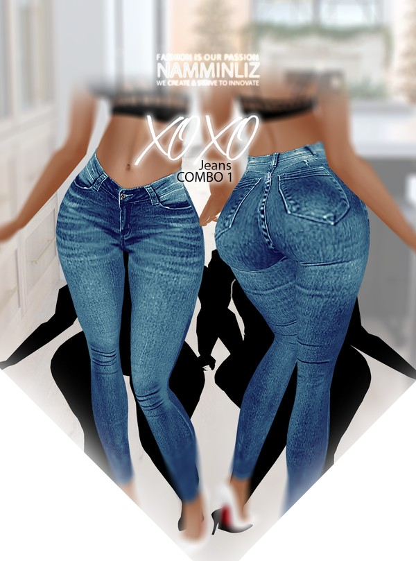 XOXO Jean Combo1 RLL Textures PNG CHKN