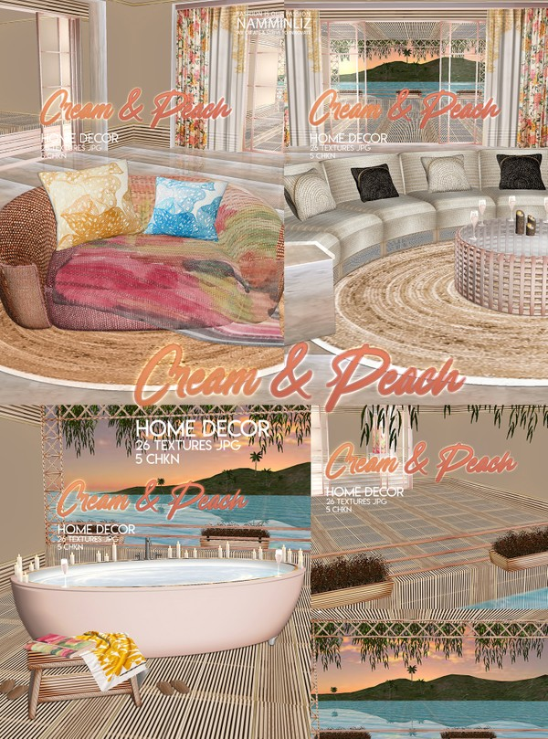 Cream & Peach Home decor 26 Textures JPG 5 CHKN