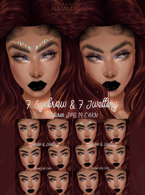 7 Eyebrow & 7 Jewelry Textures JPG 14 CHKN