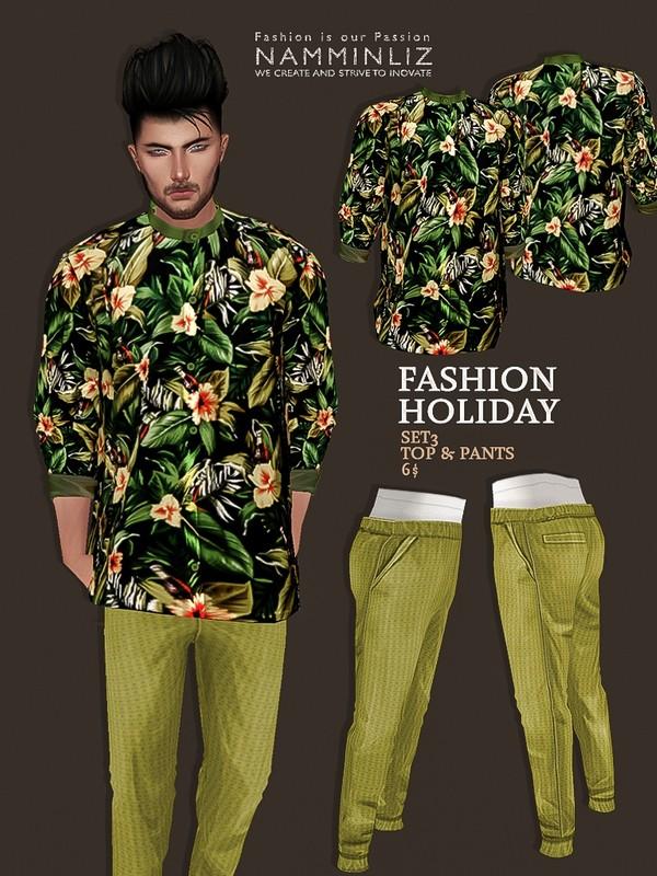 Fashion Holiday SET3 Top + Pants