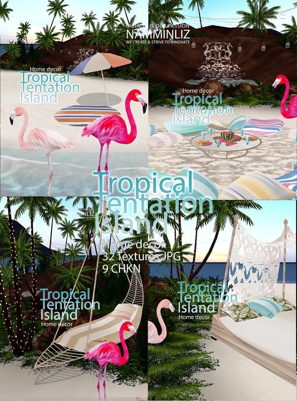 Tropical Tentation Island 32 Textures JPG 9 CHKN