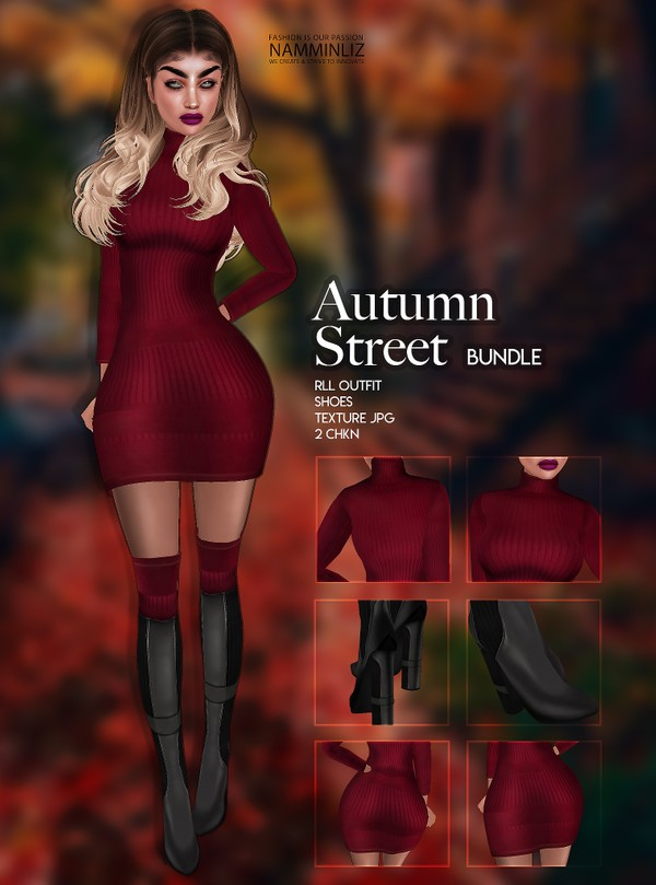 Autumn Street Bundle RLL Outfit & Shoes Textures JPG 2 CHKN