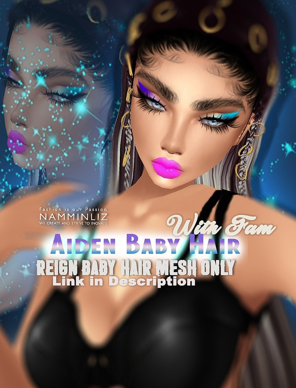 With Fam Aiden 1 BB Hair Opacity Textures PNG (Work with our Reign Baby hair mesh link below)Limited