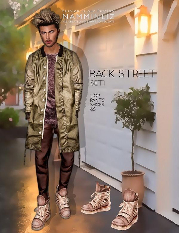 Back Street SET1  imvu Textures JPEG ( Male Top - Pants - Shoes )