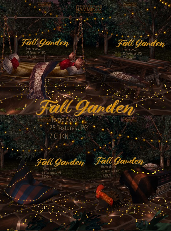 Fall Garden Home decor 25 Textures JPG 7 CHKN