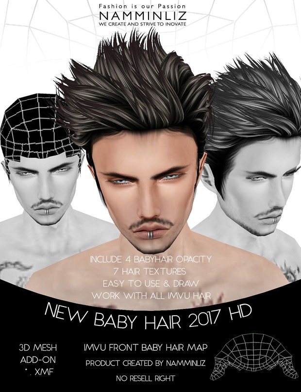 New Baby Hair 2017 Hd Front Male 4 Baby Hair Opacity